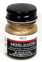 Model Master 1744 Gold 1/2 oz Enamel Paint Bottle