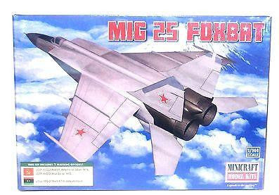 Minicraft 14654 1/144 Scale MIG 25 Foxbat Model Kit