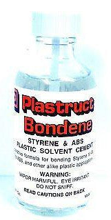 Plastruct PLS 00003 Bondene Styrene & ABS Plastic Solvent Cement 2 oz Bottle