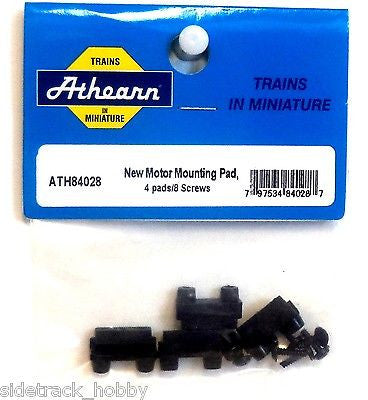 HO Scale Athearn 84028 New Motor Mounting Pad, 4 Pads/8 Screws