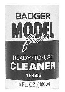 Badger Model Flex 16-606 Ready to Use Cleaner 16 oz Acrylic Paint Bottle