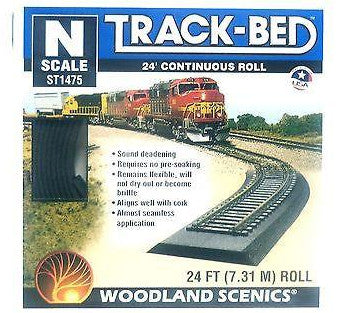 N Scale Woodland Scenics ST1475 Track-Bed 24' Continuous Roll