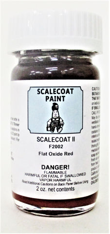 Scalecoat II F2002 Flat Oxide Red 2 oz Enamel Paint Bottle