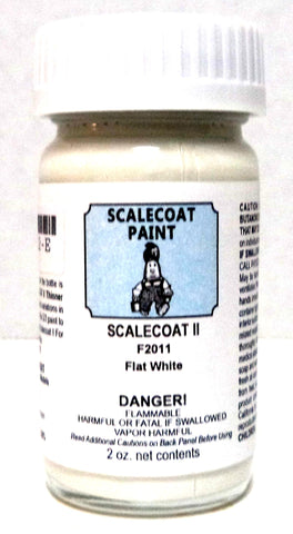 Scalecoat II F2011 Flat White 2 oz Enamel Paint Bottle