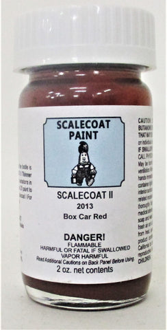 Scalecoat II S2013 Boxcar Red 2 oz Enamel Paint Bottle