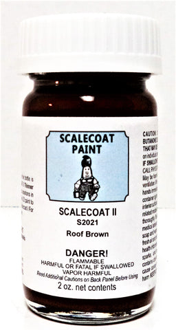 Scalecoat II S2021 Roof Brown 2 oz Enamel Paint Bottle