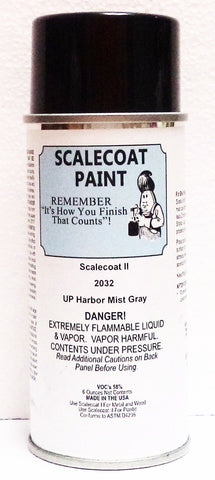 Scalecoat II S2032 UP Union Pacific Harbor Mist Gray 6 oz Enamel Paint Spray Can