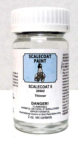 Scalecoat II S2050 Enamel Thinner 2 oz Bottle