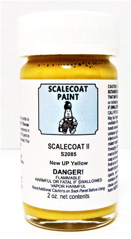 Scalecoat II S2085 UP Union Pacific New Armor Yellow 2 oz Enamel Paint Bottle
