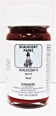 Scalecoat II S2113 Rust Weathering Color 2 oz Enamel Paint Bottle