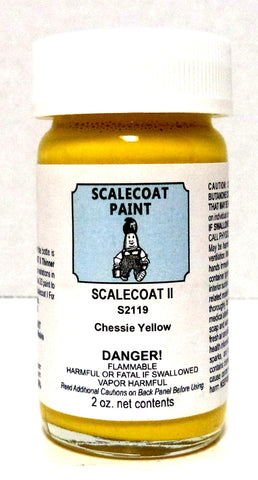 Scalecoat II S2119 CHSY Chessie System Yellow 2 oz Enamel Paint Bottle