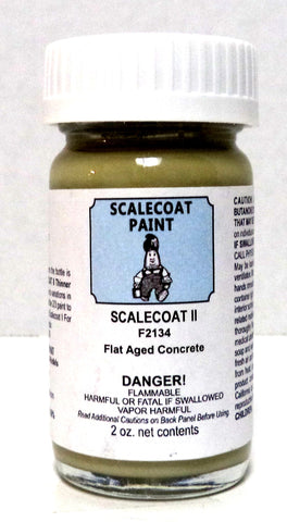 Scalecoat II F2134 Flat Aged Concrete 2 oz Enamel Paint Bottle