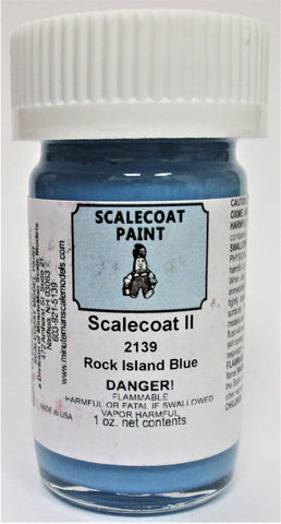 "Scalecoat II S2139 Rock Island ""Bankruptcy"" Blue 1 oz Enamel Paint Bottle"