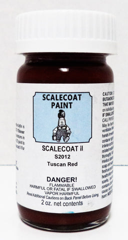Scalecoat II S2012 Tuscan Red 2 oz Enamel Paint Bottle