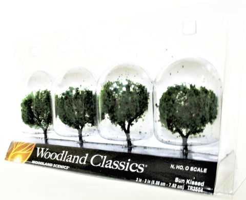 Woodland Classics Ready-Made Trees TR3504 Sun Kissed - 4/pkg