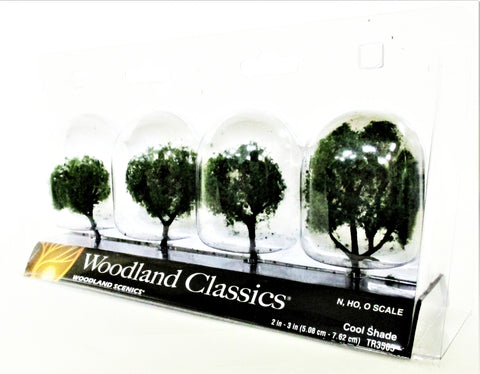 Woodland Classics Ready-Made Trees TR3505 Cool Shade - 4/pkg