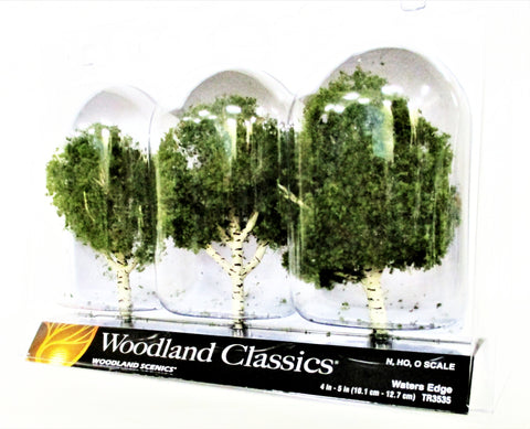 Woodland Classics Ready-Made Trees TR3535 Waters Edge - 3/pkg