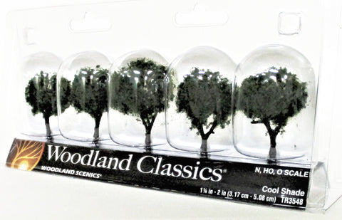 Woodland Classics Ready-Made Trees TR3548 Cool Shade - 5/pkg