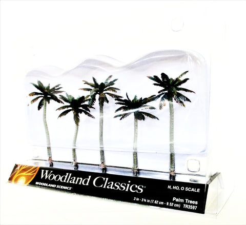 Woodland Classics Ready-Made Trees TR3597 Palm Trees - 5/pkg