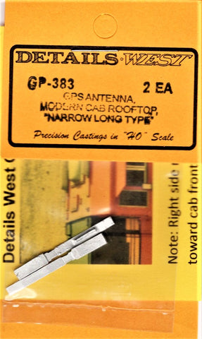 HO Scale Details West GP-383 Modern Cab Rooftop GPS Antenna Narrow Long Type