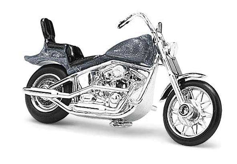 HO Scale Busch Gmbh & Co 40159 Assembled Metallic Gray American Motorcycle