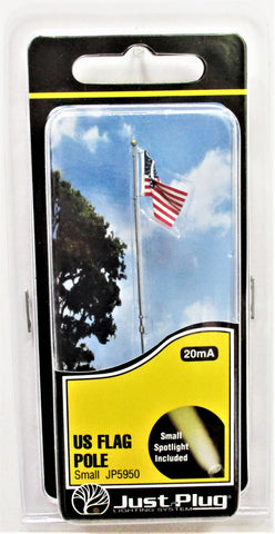 All Scale Woodland Scenics JP5950 Just Plug Small Waving US Flag on Pole