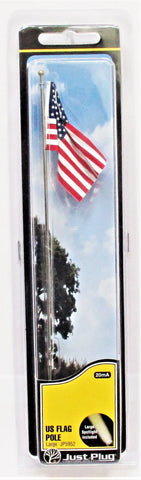 All Scale Woodland Scenics JP5952 Just Plug Large Waving US Flag on Pole