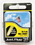 All Scale Woodland Scenics JP5953 Just Plug Small Waving US Flag Wall Mount