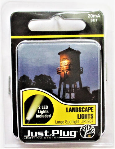 All Scale Woodland Scenics JP5957 Just Plug Large LED Landscape Spotlight pkg(2)