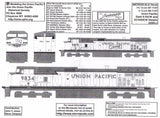 N Scale Microscale 60-1147 UP Union Pacific Dash 9-44CW / AC4400CW Decal Set