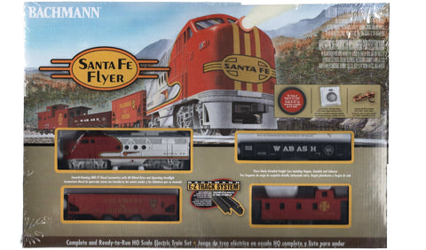 HO Scale Bachmann 647 Santa Fe Flyer Train Set with Steel E-Z Track