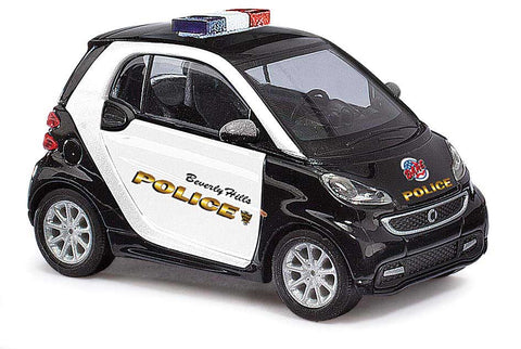 HO Scale Busch 46223 2012 Smart Car Fortwo Coupe Beverly Hills Police