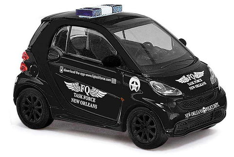 HO Scale Busch 46222 2012 Smart Car Fortwo Coupe Task Force New Orleans