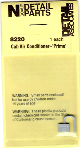 N Scale Detail Associates 8220 Air Conditioner Prime Type (1) pc