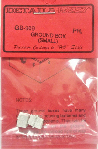 HO Scale Details West GB-909 Small Battery Vaults Ground Box