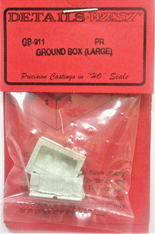 HO Scale Details West GB-911 Large Battery Vaults Ground Box