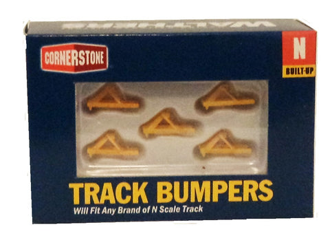 N Scale Walthers Cornerstone 933-2602 Yellow Track Bumpers Built Ups (5) pkg