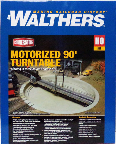 HO Scale Walthers Cornerstone 933-2860 Motorized 90' Turntable Kit