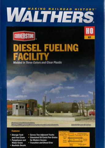 HO Scale Walthers Cornerstone 933-2908 Diesel Fueling Facility Building Kit