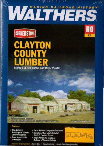 HO Scale Walthers Cornerstone 933-2911 Clayton County Lumber Building Kit
