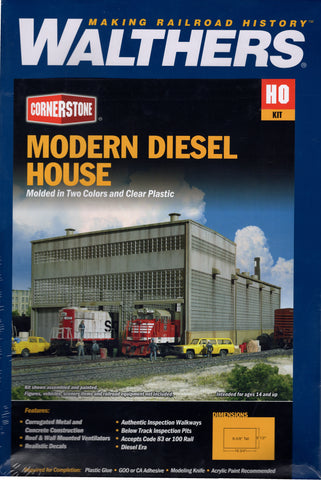 HO Scale Walthers Cornerstone 933-2916 Diesel House Building Kit
