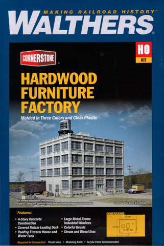 HO Scale Walthers Cornerstone 933-3044 Hardwood Furniture Company Building Kit