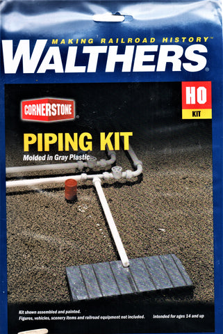 HO Scale Walthers Cornerstone 933-3105 Piping Kit