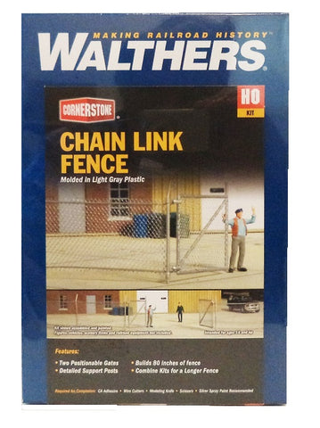 HO Scale Walthers Cornerstone 933-3125 Chain Link Fence Model Kit