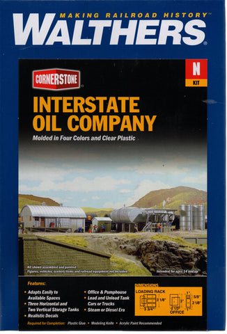 N Scale Walthers Cornerstone 933-3200 Interstate Fuel & Oil Company  Building Kit