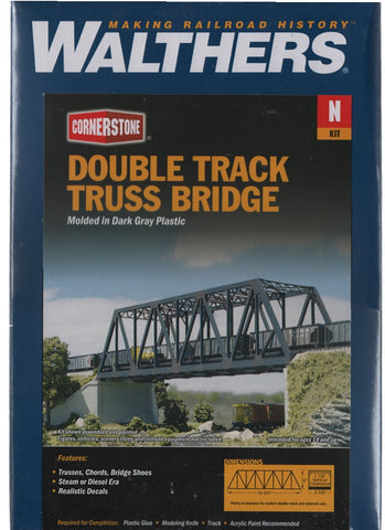 N Scale Walthers Cornerstone 933-3242 Double-Track Truss Bridge Kit