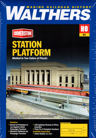 HO Scale Walthers Cornerstone 933-3391 Los Angeles Union Station Platform Kit