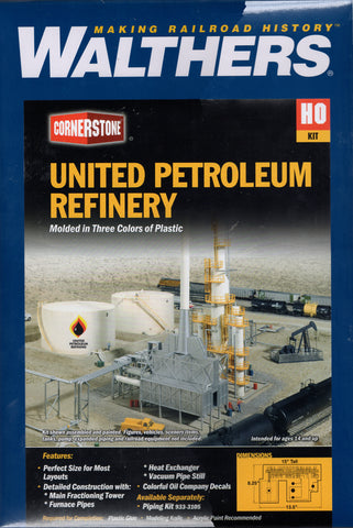 HO Scale Walthers Cornerstone 933-3705 United Petroleum Refining Kit