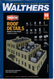 HO Scale Walthers Cornerstone 933-3733 Roof Details Model Kit