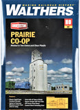 HO Scale Walthers Cornerstone 933-4047 Prairie Co-Op Elevator Building Kit
